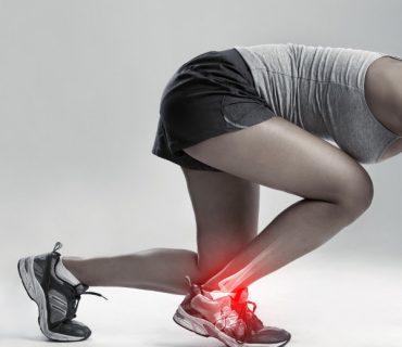 Boląca kostka po bieganiu - zaczerwienienie