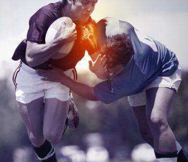 Wybicie barku - zderzenie futbolistów